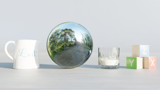 HDRI – Moderniststuga i skogen (sommar, tidig kväll) – stilleben utan horisont (EV 8.95; Filmic Blender)