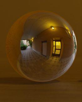 HDRI – Postmodern passage (sommar, solnedgång) – spegeldank utan horisont (EV 3.75; Filmic Blender)
