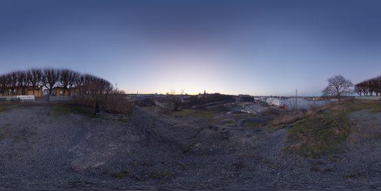 HDRI – Fåfängans utsiktsplats (vinter, skymning) – förhandsgranskning (EV 6.75; Filmic Blender)