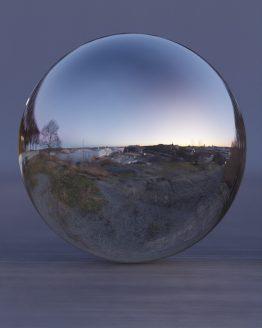 HDRI – Fåfängans utsiktsplats (vinter, skymning) – spegeldank utan horisont (EV 6.75; Filmic Blender)