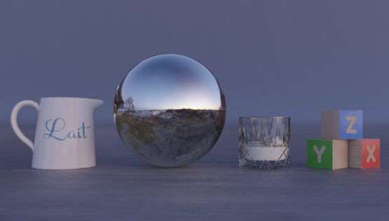 HDRI – Fåfängans utsiktsplats (vinter, skymning) – stilleben utan horisont (EV 6.75; Filmic Blender)