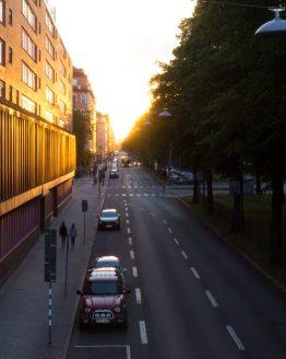 Solnedgångsaveny – fotografi av Sanning Arkitekter