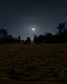 HDRI – Fullmåne över fält (vår, midnatt) – förhandsgranskning (EV -1.50; Filmic Blender)