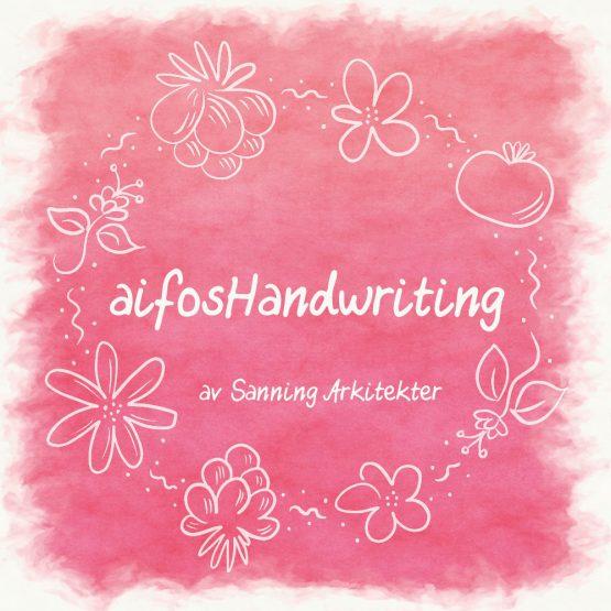 Typsnitt – aifosHandwriting