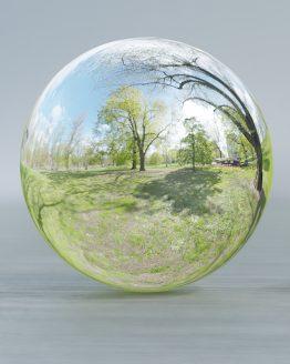 HDRI – Humlegården (senvår, förmiddag) – spegeldank utan horisont (EV 10.40; Filmic Blender)