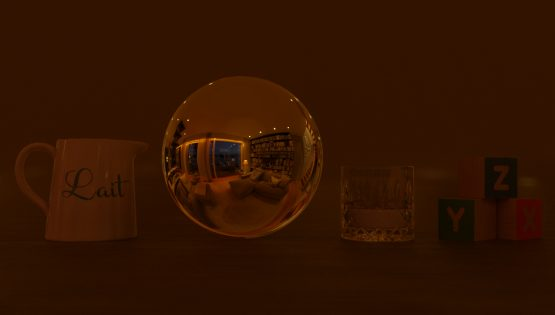 HDRI – Modernt vardagsrum (sommar, sen kväll) – stilleben utan horisont (EV 4.50; Filmic Blender)