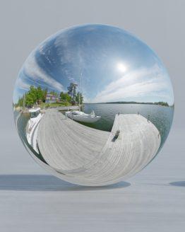 HDRI – Resaröström (sommar, sen förmiddag) – spegeldank utan horisont (EV 12.60; Filmic Blender)