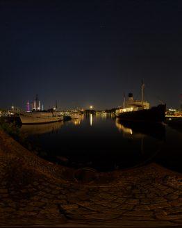 HDRI – Galärvarvet (sommar, midnatt) – förhandsgranskning (EV -0.85; Filmic Blender)