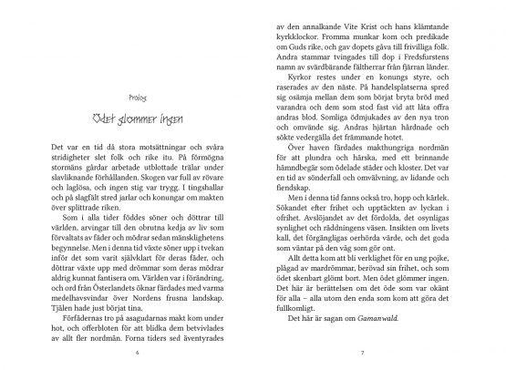 Sagan om Gamanwald – Skuggvättarnas välsignelse – Hessel Syhlén, Sofia Sanning – Prolog